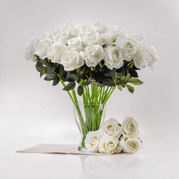 Exkluzivni, elegantní umělá růže ŽANETA