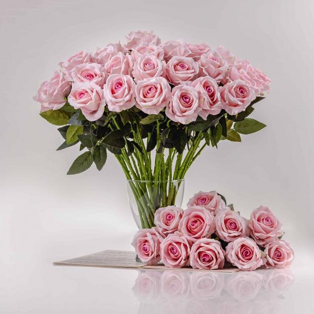 Selyem rózsa ZSANETA rózsaszín. Ár/darab.