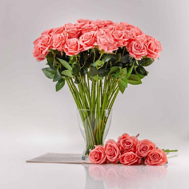 Umelá ruža SIMONA ružová. Cena uvedená za 1 kus.