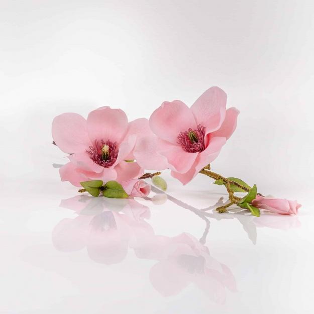 Umelá magnólia HELENA ružová. Cena uvedená za 1 kus