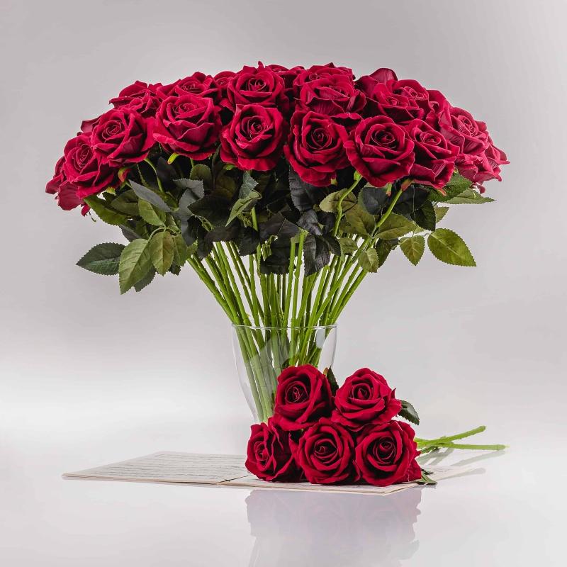 Selyem rózsa ZSANETA bordó. Ár/darab.