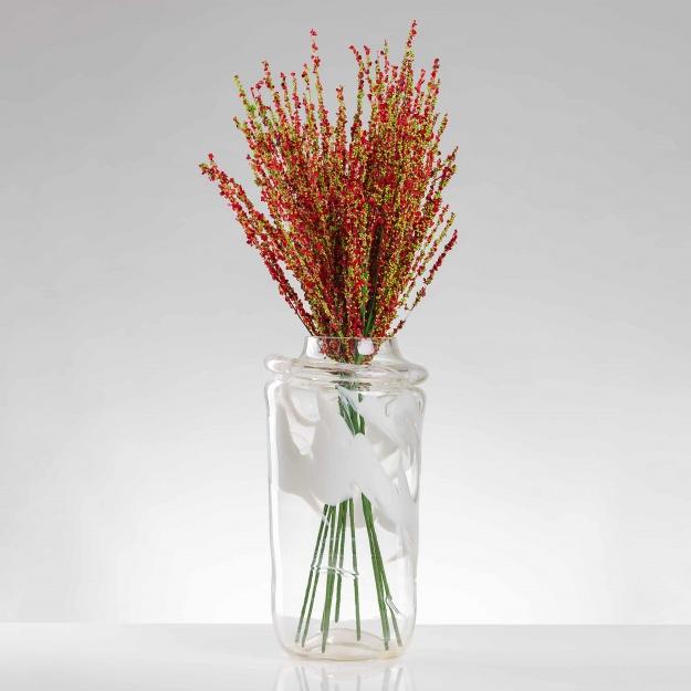 Umelá vetvička VALÉRIA červená.Cena uvedená za 1 kus