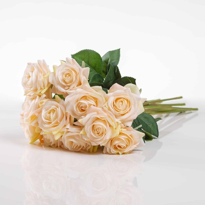 Selyem rózsa RUZSENA pezsgőszínű. Ár/darab.