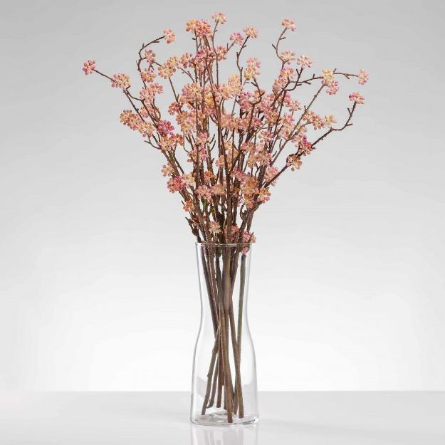 Umělá větvička RENÁTA růžová. Cena uvedena za 1 kus.