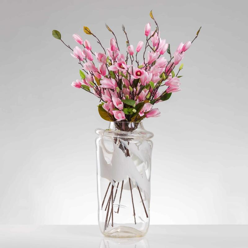 Umělá magnólie LENKA růžová. Cena uvedena za 1 kus.