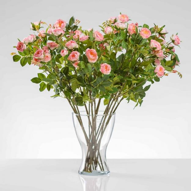 Umelá hodvábna ruža LAURA ružová. Cena uvedená za 1 kus.