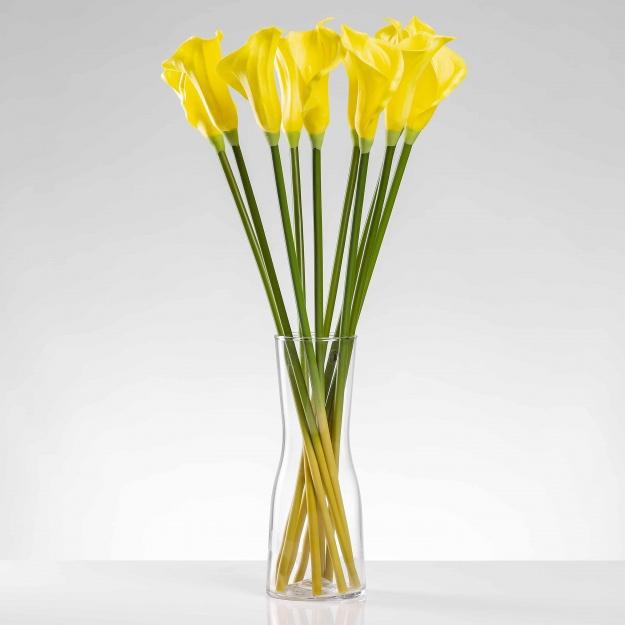 Umělá kala ALENA žlutá. Cena uvedena za 1 kus.