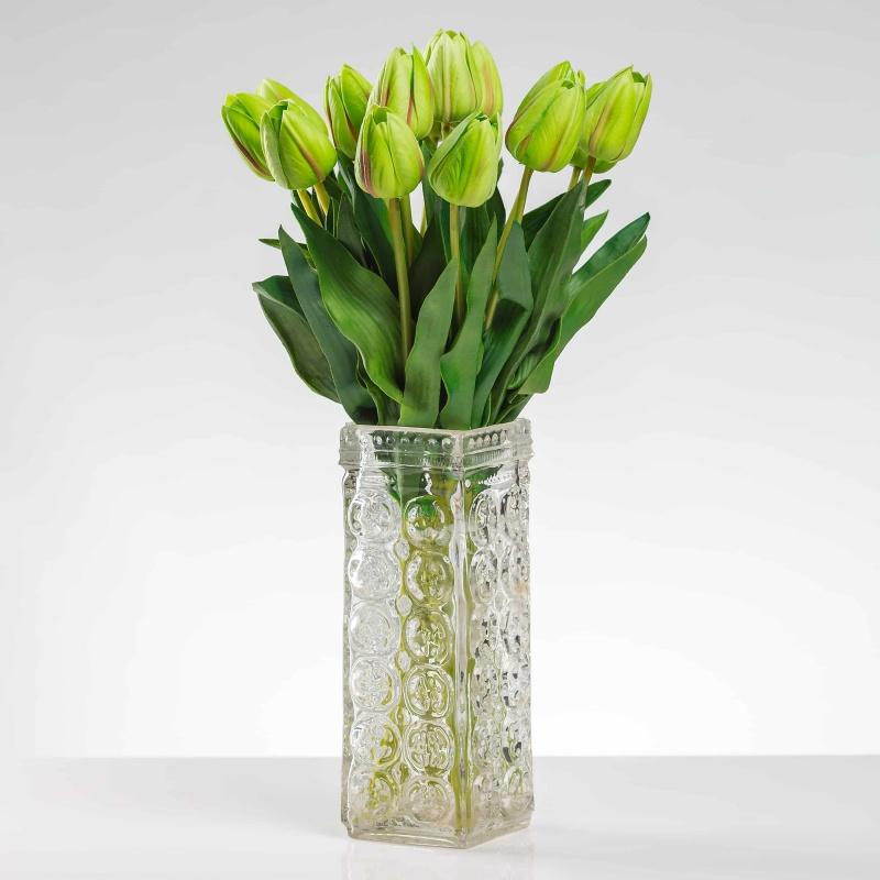 Selyem tulipán BEÁTA világoszöld. Ár/darab.