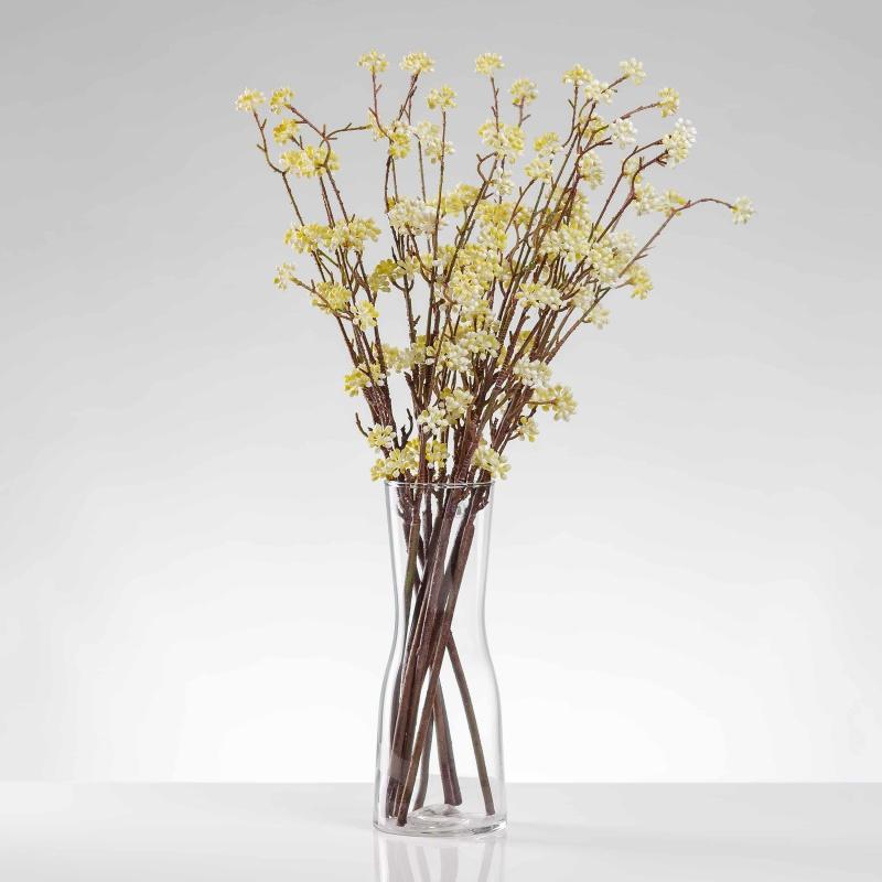 Umělá větvička RENÁTA bílo-žlutá. Cena uvedena za 1 kus.