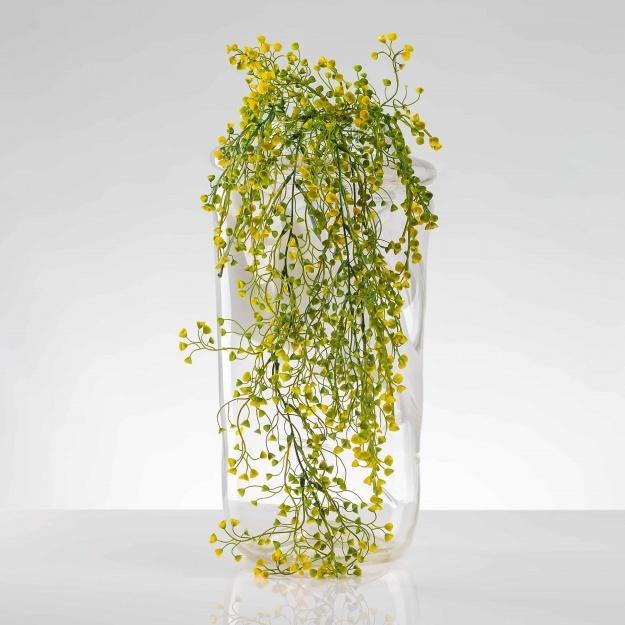 Umělá popínavá rostlina AGÁTA žultě-zelená. Cena uvedena za 1 kus.
