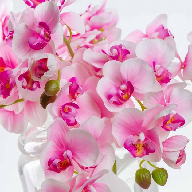 Umělá orchidea NATÁLIE jemně-růžová. Cena uvedena za 1 kus.