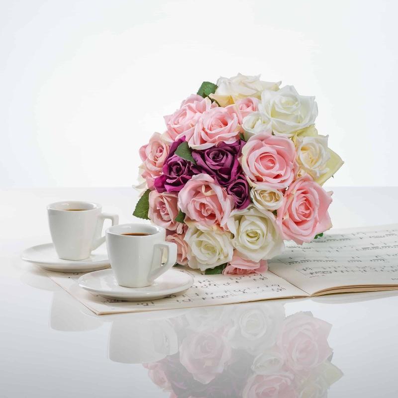 Elegantní kytička z růží VĚRA mix