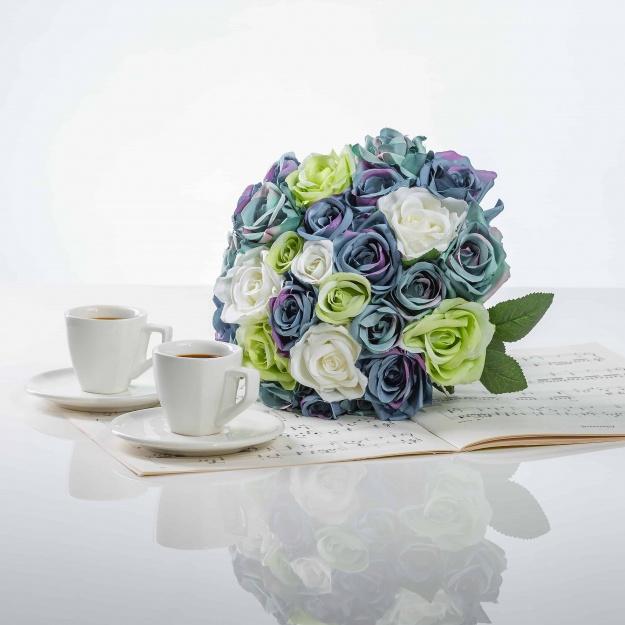 The Elegant Bouquet From Silk Roses VERA