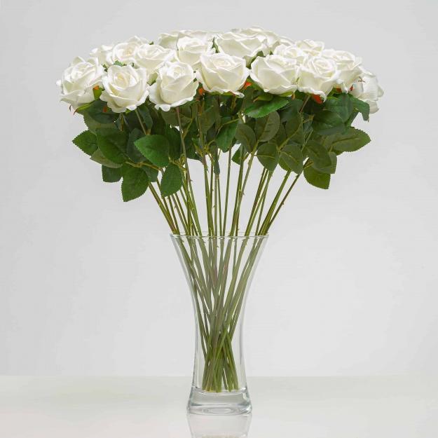 Jedinečná sametová, umělá růže ANNA