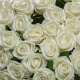 Umelá zamatová ruža ANNA bielo-krémová. Cena uvedená za 1 kus.