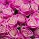 Umelá zamatová ruža ANNA fialovo - ružová. Cena uvedená za 1 kus.