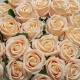 Umelá zamatová ruža ANNA šampaňská. Cena uvedená za 1 kus.