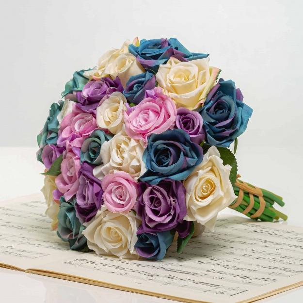 Elegantná kytička z ruží VIERA mix