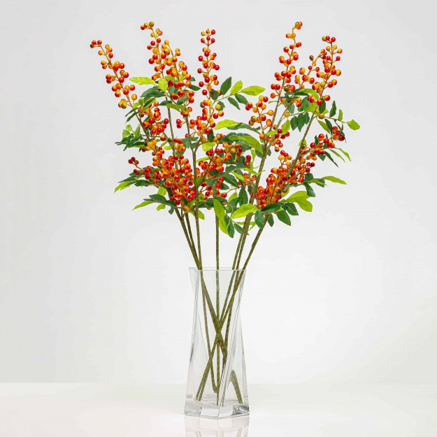 Mű ágacska bogyókkal SOFIA narancssárga. Ár/darab.