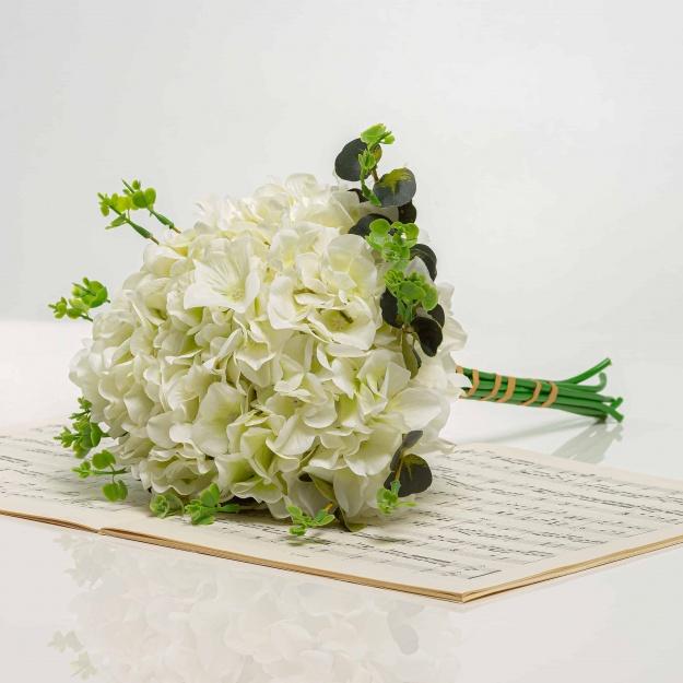 Kytička z hortenzií LÝDIA biela