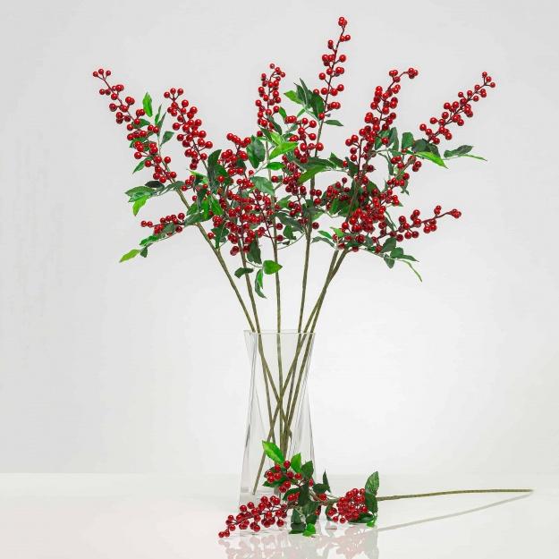 Mű ágacska bogyókkal SOFIA piros. Ár/darab.
