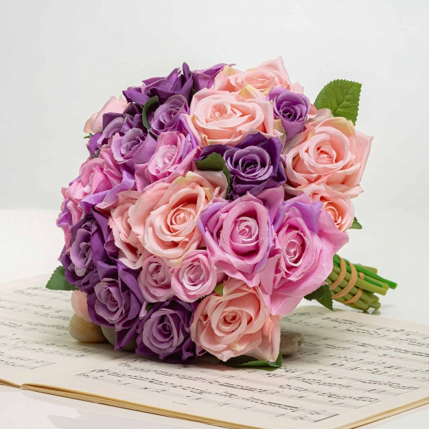 Elegant Bouquet From Silk Roses VERA