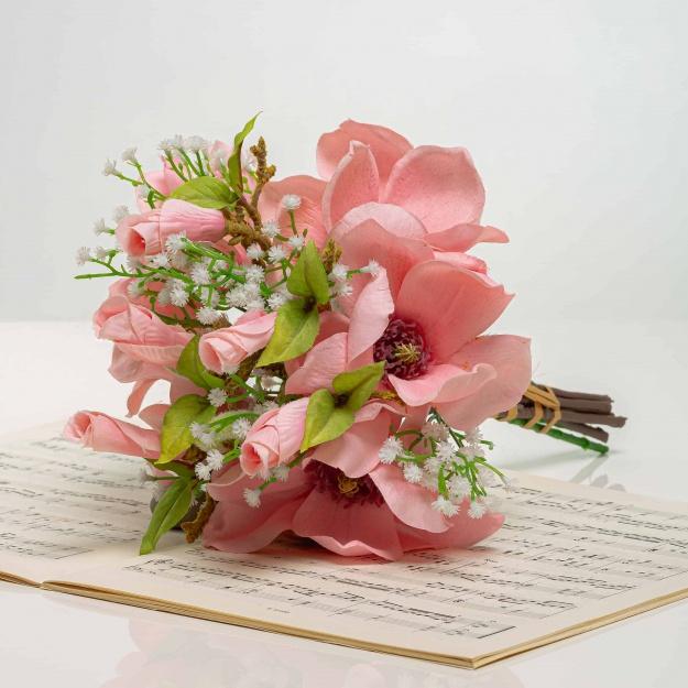 Kytička z magnólií HENRIETA ružová