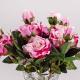 Umelá zamatová ruža VANESA ružovo-cyklámenová. Cena uvedená za 1 kus.