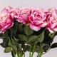 Umělá sametová růže ŽANETA bílo-cyklámenová. Cena uvedena za 1 kus.