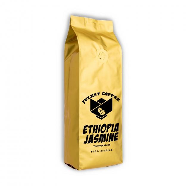 Zrnková káva ETHIOPIA JASMINE tmavě pražená
