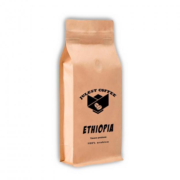 Zrnková káva ETHIOPIA tmavo pražená