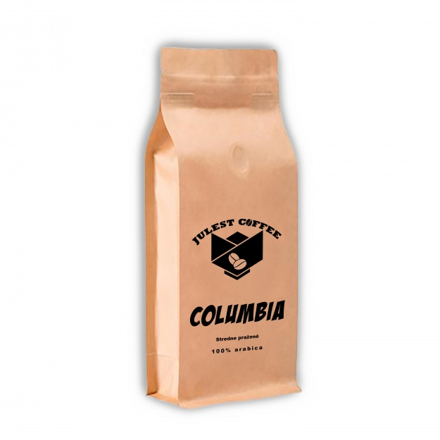 Zrnková káva COLUMBIA středně pražená