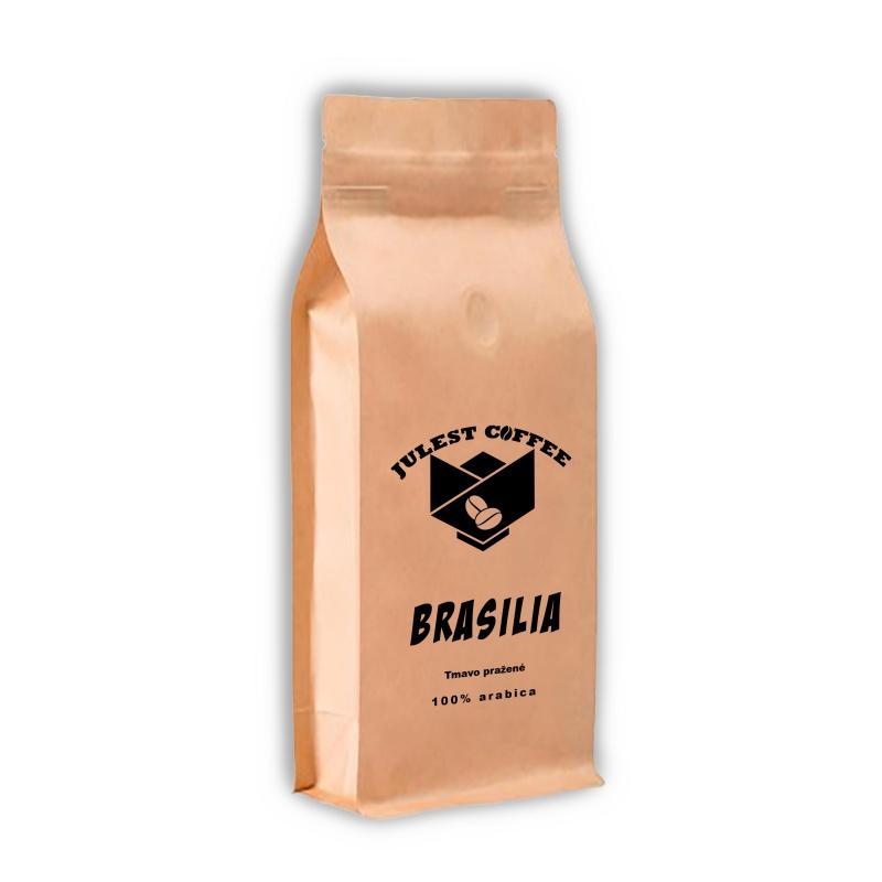 Zrnková káva BRAZILIA tmavo pražená
