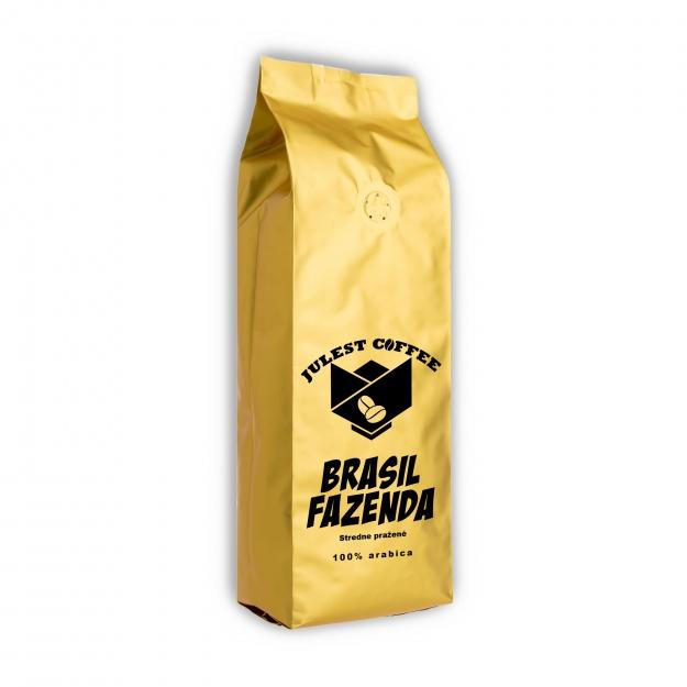 Zrnková káva BRAZILIA FAZENDA středně pražená