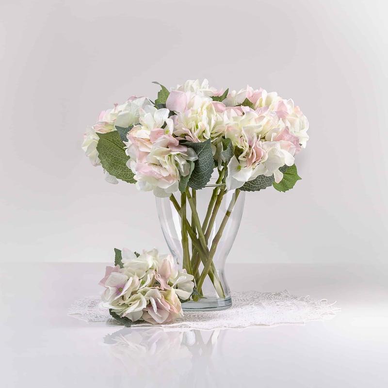 Obľúbená, dizajnová, hodvábna umelá hortenzia ZUZANA