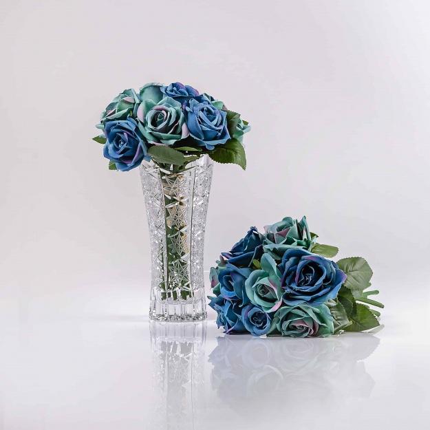 Kráľovská, hodvábna umelá kytička luxusných ruží TERÉZIA