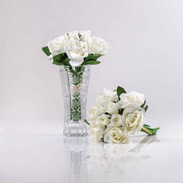 Královská hedvábná, umělá kytička luxusních růží TEREZIE