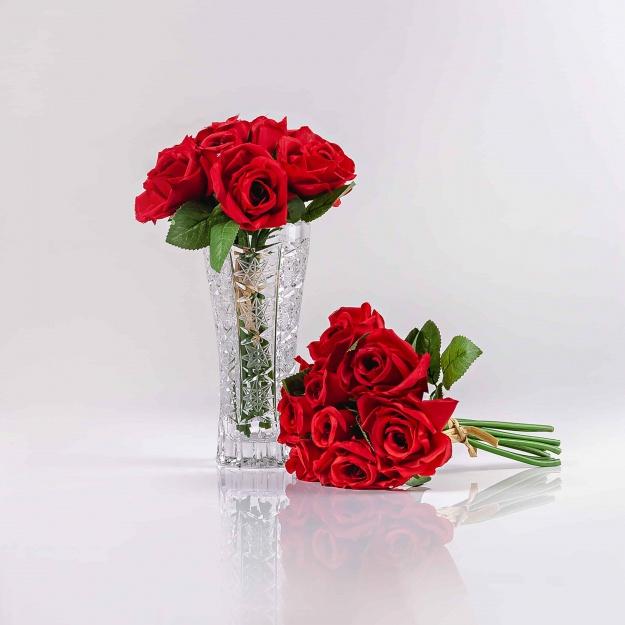 Umelá kytička ruží TERÉZIA červená