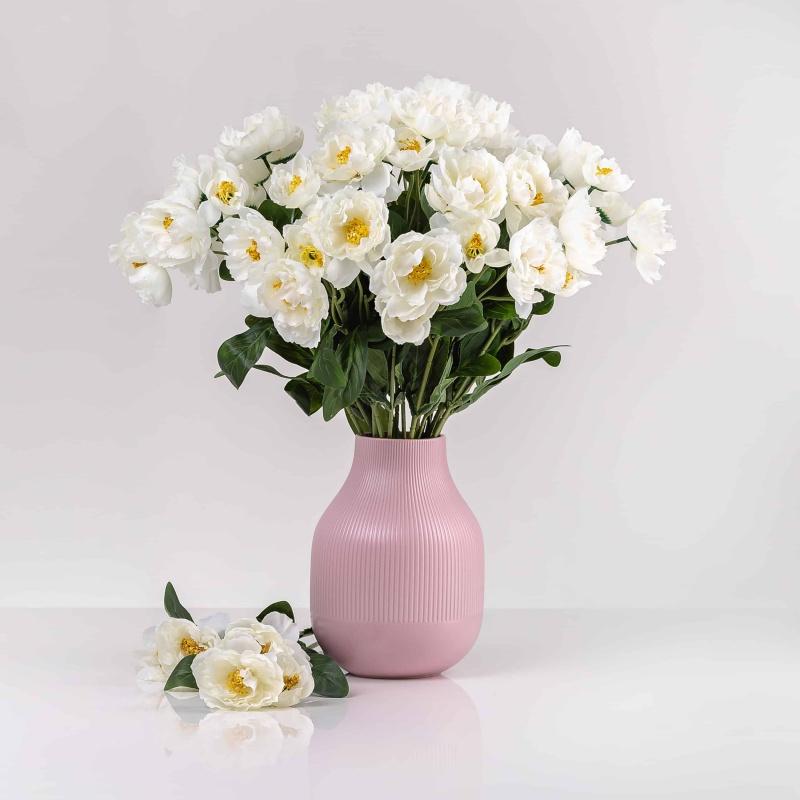 Umelý mak ROZÁLIA biely. Cena uvedená za 1 kus.
