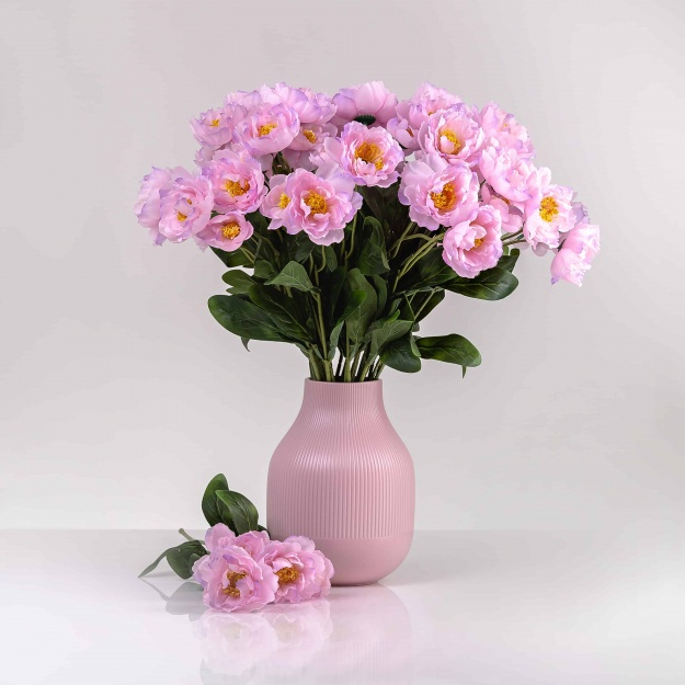 Selyem mákvirág ROZÁLIA halvány rózsaszín. Ár/darab.