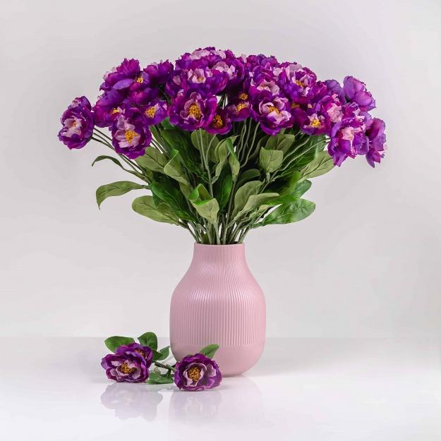 Umělý mák ROZÁLIE tmavě-fialový. Cena uvedena za 1 kus.