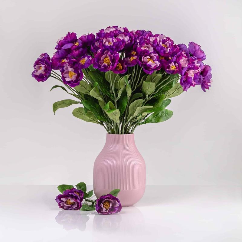 Umelý mak ROZÁLIA tmavo-fialový. Cena uvedená za 1 kus.