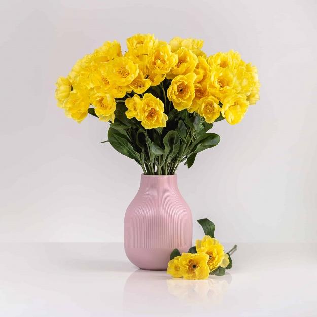 Selyem mákvirág ROZÁLIA sárga. Ár/darab.