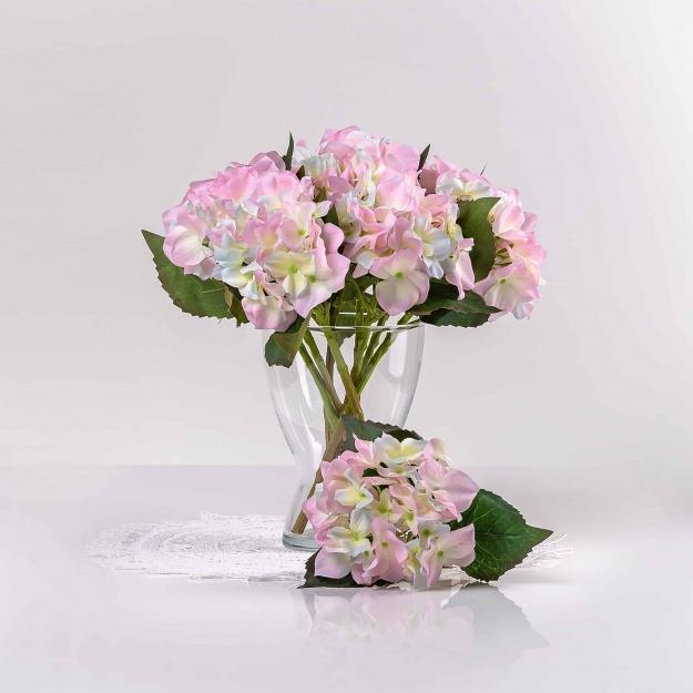 Umelá hortenzia EVA jemno-fialová. Cena uvedená za 1 kus.