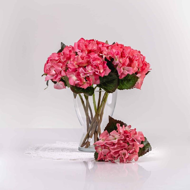 Selyem hortenzia ÉVA rózsaszín. Ár/darab.