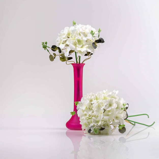 Dokonalá, hodvábna umelá kytička hortenzií PENELOPE