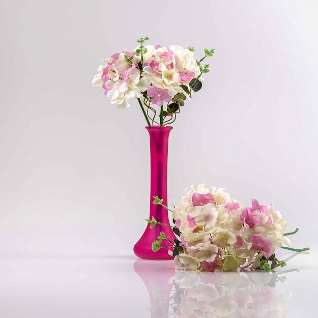 Kytička hortenzií PENELOPE ružovo-biela.