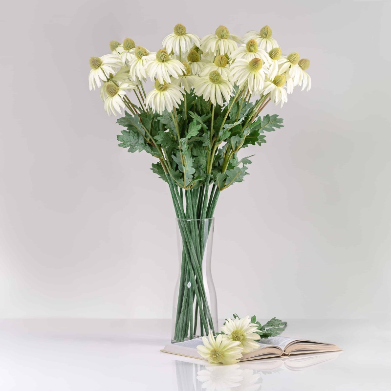 Selyem echinácia LUCIA fehér. Ár/darab.