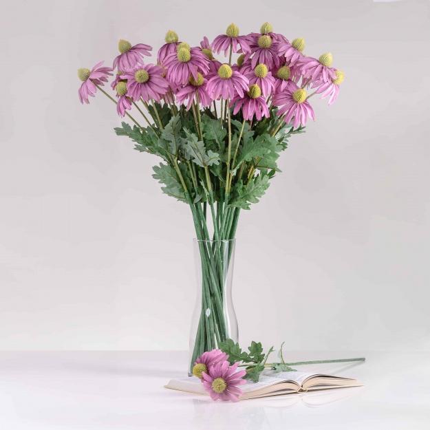 Umelá echinacea LUCIA fialová. Cena je uvedená za 1 kus.