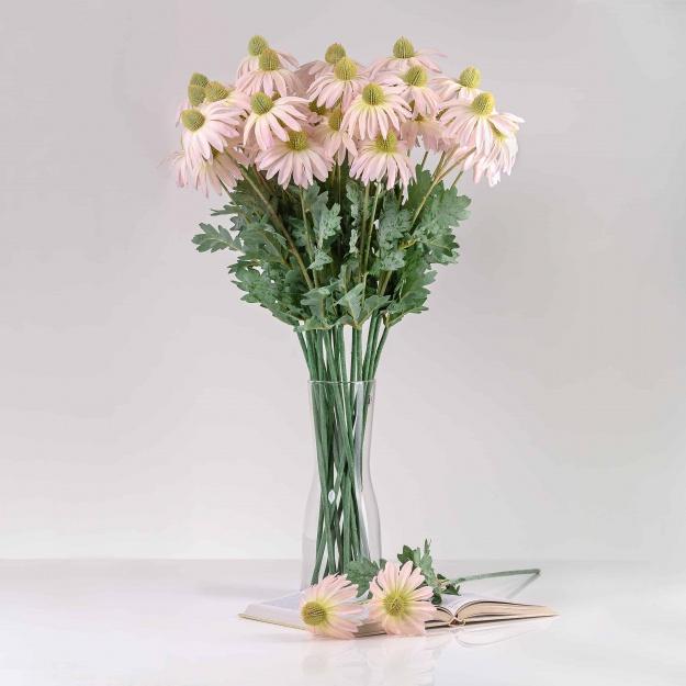 Umelá echinacea LUCIA ružová. Cena je uvedená za 1 kus.